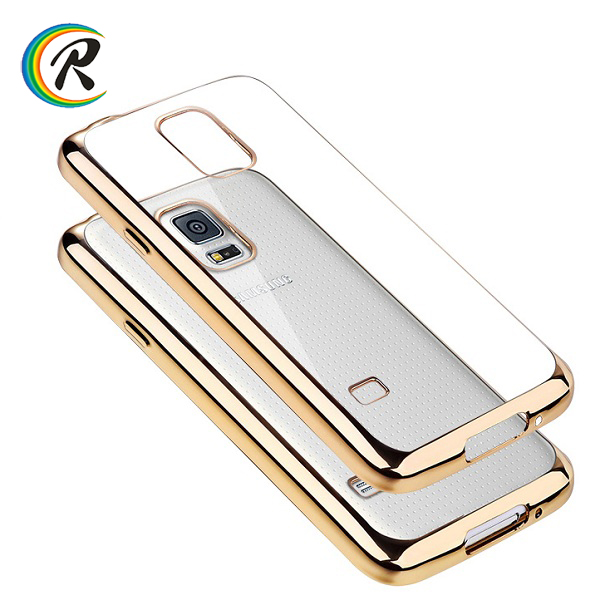 Fashion for galaxy i9500 s4 case for Samsung galaxy S5 back cover plating bumper case ultra-thin protect shell
