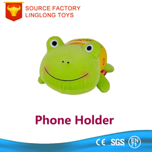 Customize Cartoon Plush Phone Holder Stuffed Bean Bag Frog Mobile Phone Stand Office Anti-slip Cell Phone Stand