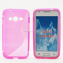 mobilephone S style tpu gel case back cover for Samsung Galaxy Ace 4 G313H, waterproof phone case
