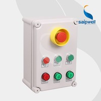 Seven Way/Loop Emergency Stop Button indicator light power control box/ enclosure
