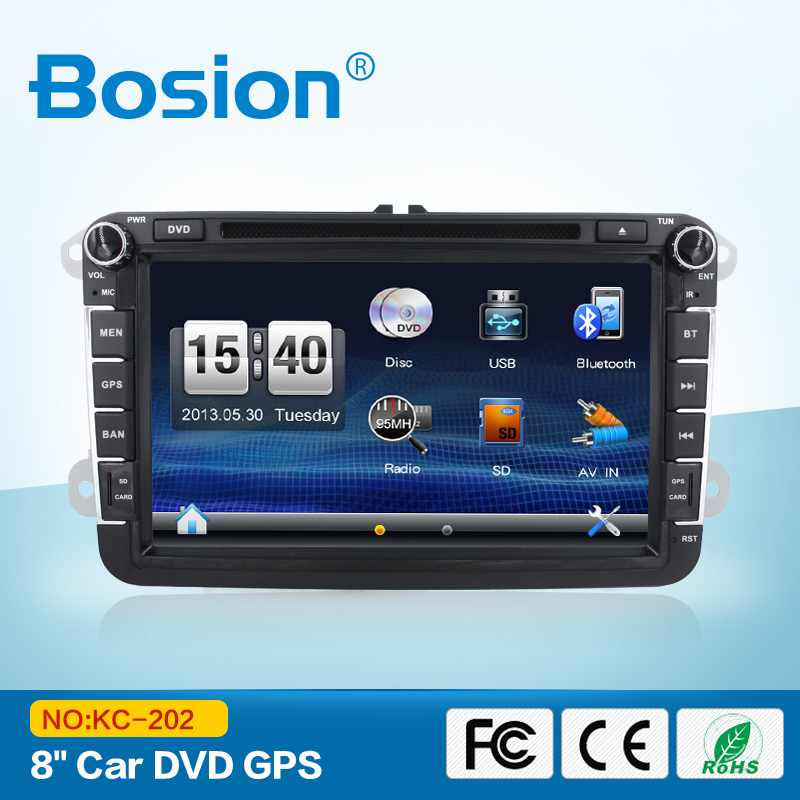 2 Din 8 inch Entertainment GPS System Royal Car DVD Navigation System for VW Golf POLO Jetta