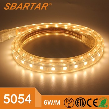 NEW AC 220V LED Strip SMD5054 Flexible LED Light 1M/2M/3M/4M/5M/10M 60leds/M Home Decoration Lamps Waterproof With EU Plug