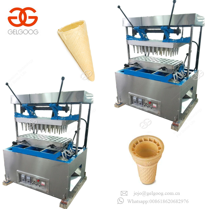 High Effective Ice Cream Snow Cone Making Production Line Waffle Cone Maker Machine