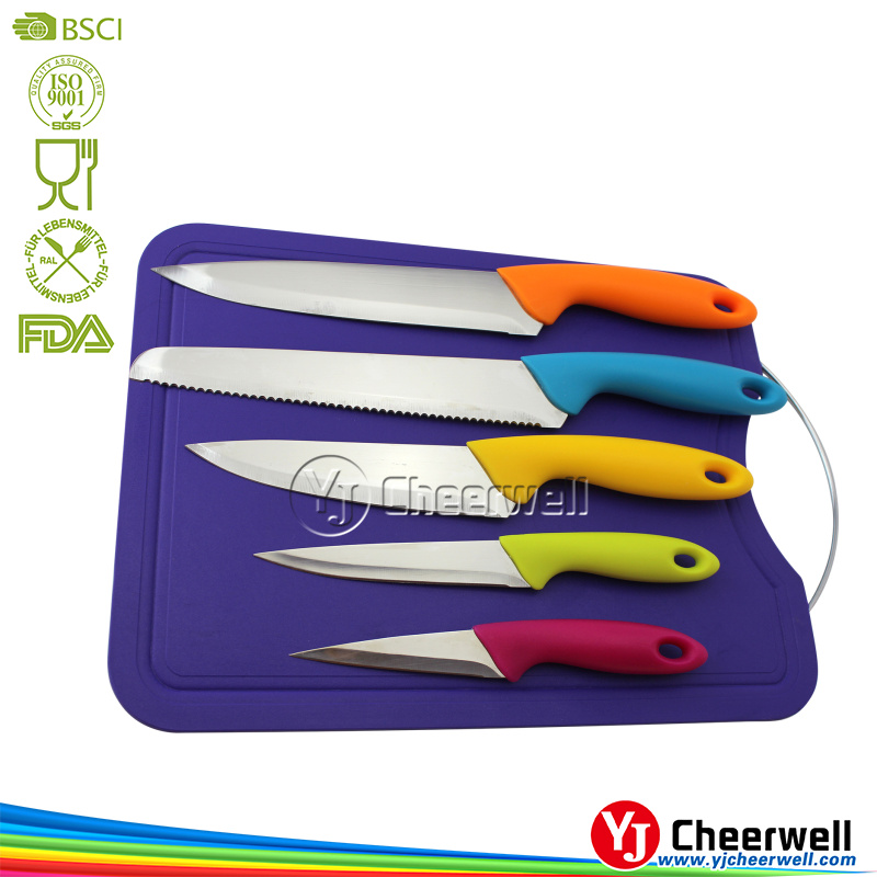 promotion kitchen set, cheap PP handle chef knives