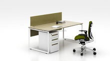 Smart design cheap price E1 MDF wooden office computer desk(FIT-series)