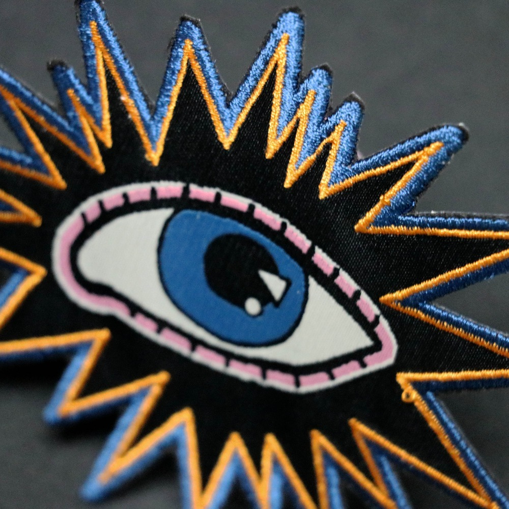 Garment Accessories Free Design Hand Embroidery Patch Eyes Kids