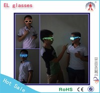 Ray-ban and shutter! shining el wire glasses wholesale in china