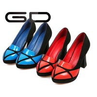 Hot selling elegant design large size high heels for girls