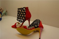 high quality customer large high heels shoes size 12 for women