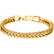 Stainless steel 18K gold chain link charm bracelets with button clasp