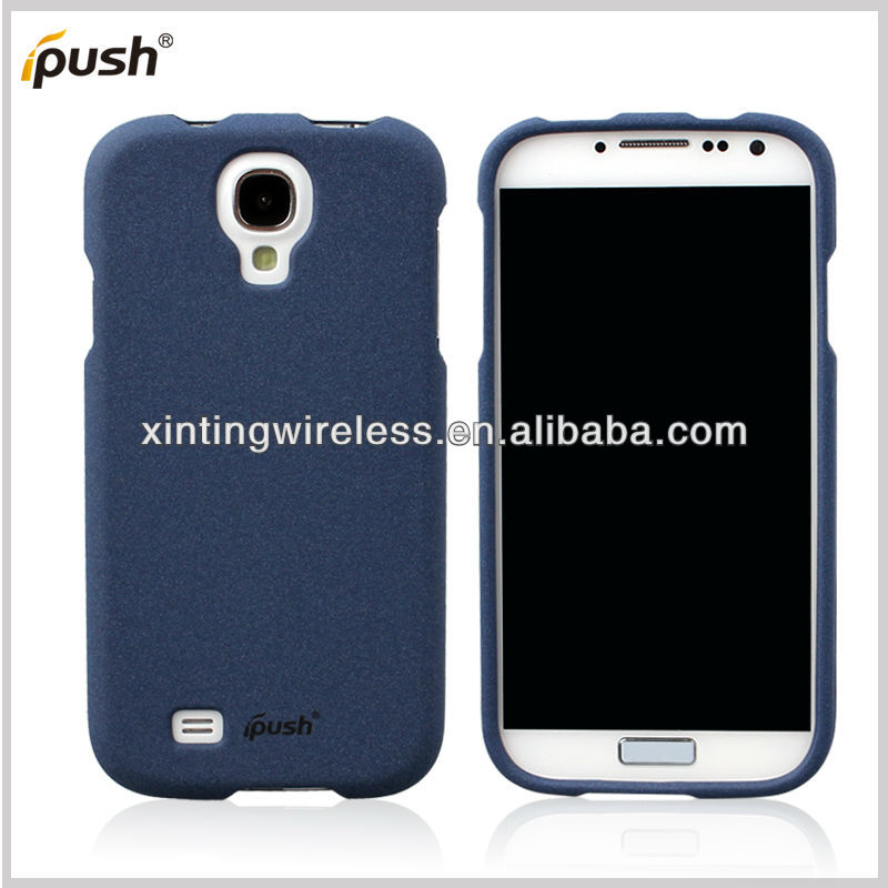 2 pcs Front And Back Rubber Matte quicksand plastic Hard back Case Cover for samsung galaxy S4 Shell Case