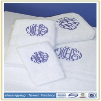 China Factory Manufacturers Wholesale High Quality Custom 2 Line Embroidered Monogram Towel