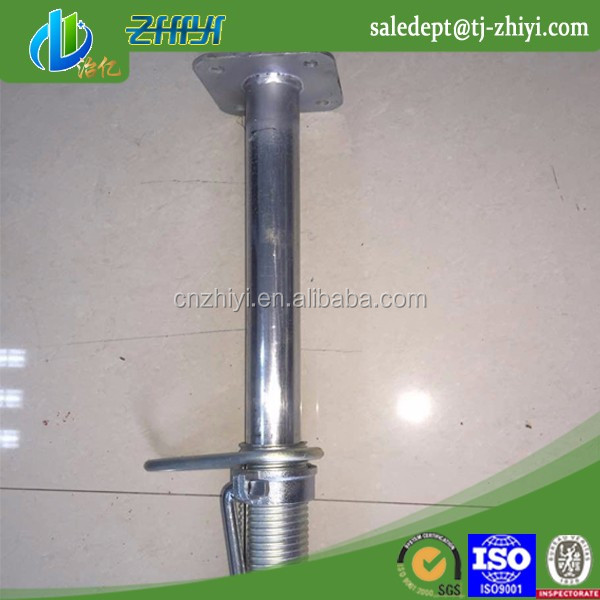 Galvanized shoring system telescopic support pole and shoring pole