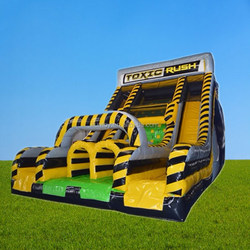 Extreme inflatable toxic rush/ wipe out obstacle courses / total wipe out games for sale