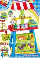 Plastic fruit display stand basket toys with music and light QS120110208