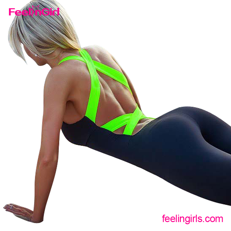 NO MOQ Sport Fitness Sleeveless One Piece Bodycon Bandage Jumpsuit