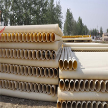 BAIJIANG 500mm Dia Well Casing Double Wall Corrugated PVC White Pipes