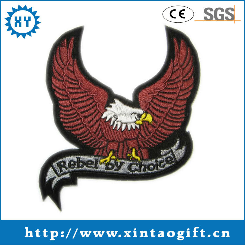 2017 Custom eagle 3d embroidered emblem