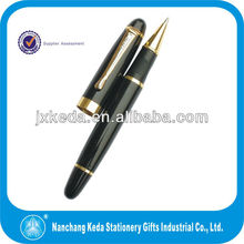 2014 New high quality 1.0mm ballpoint pen with roller pen and ball pen matching logo laser engraveable