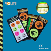 reflective stickers,reflective halloween stickers with CE EN13356