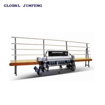 25x25mm Small size glass mirror straight line beveling machine with PLC (JFB-371SJ)