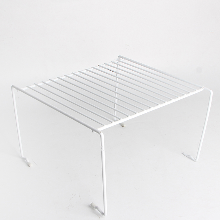 Black/White Stackable Cabinet Steel Wire Shelf with Dip Coating
