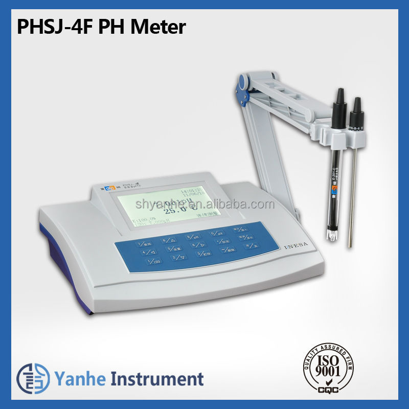 PHSJ-4F Digital LCD pH/mV/Temperature Meter & Electrodes PH Tester