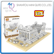 Mini Qute LOZ World architecture Athena diamond plastic building block scale model educational toy NO.9383