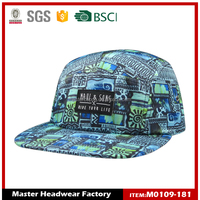 Snapback hat black caps with printed plain dyed
