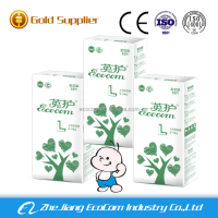 Clothlike back magic tape baby diapers from China factory