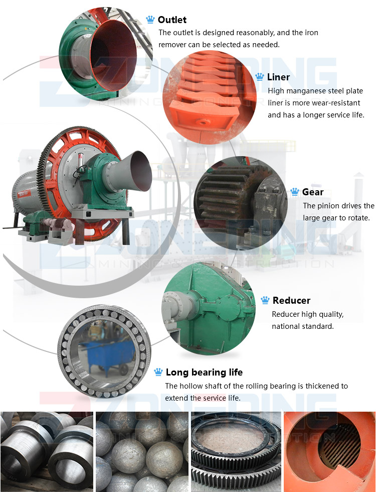 Factory supplier gold ball mill ball grinding machine ball mill price list