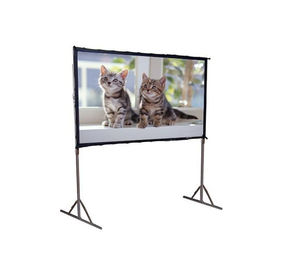 movie projector screen custom size motorized projection screen/portable fast fold rear projector screen