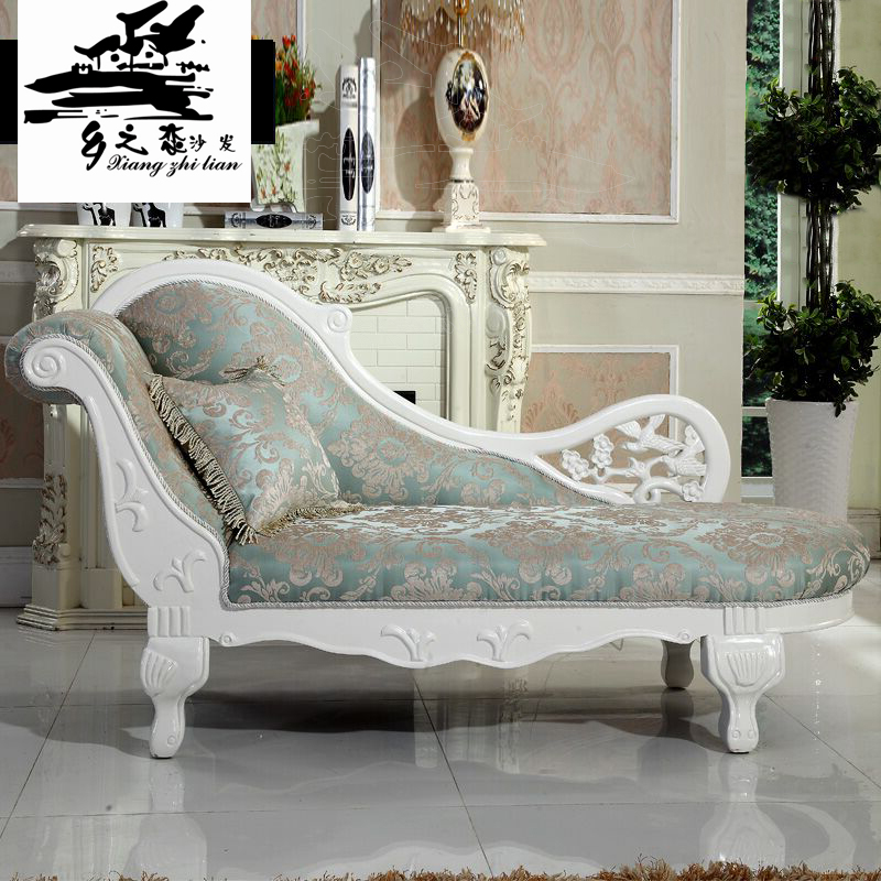 Original Designs Neoclassic Victorian Living Room Lazy Chaise Carved Solid Wood Lounge Suite