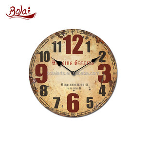 cheap mdf art painting diamond shaped eastar giant wall clock