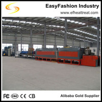 Heat treatment production line with quenching carburizing tempering mesh belt furnace