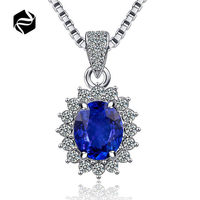 Hot Fashion crystal pendant necklace silver plated Crystal zircon necklace pular jewelry