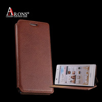 Litchi leather mobile phone case leather wallet case for huawei p6