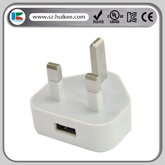 5W micro usb charger UK plug wall charger