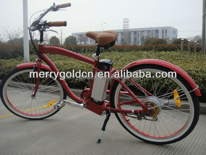 26' electric beach cruiser bike bicycle with aluminium alloy frame