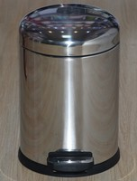 Stainless Steel Arched Cover Waste Bin