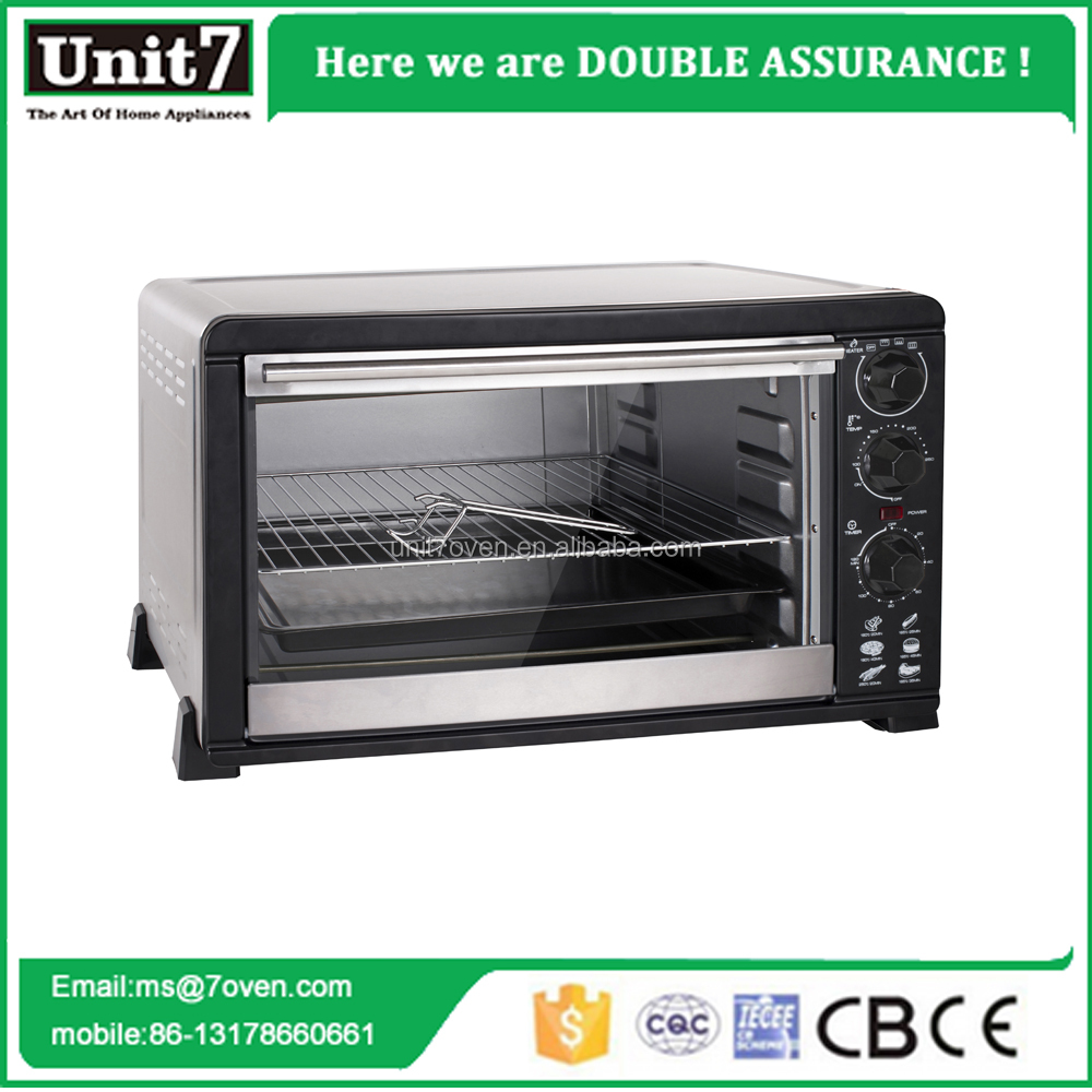 43L Household Electric Baking Ovens Home kitchen appliance toaster 4 slice stainless steel small baking oven