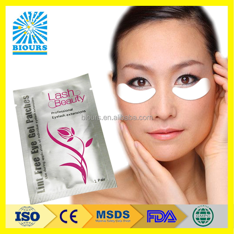2017 eyelash tools lint free eye patch eyelash grifting