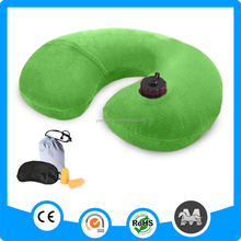 Wholesale green neck pillow set hold pillow for air for travel