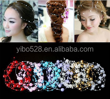 New Romantic Pearl crystal Bridal headdress Wedding Hair Accessories Bridal Jewelry Wholesale top quality