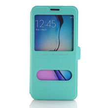 For Samsung Galaxy S6 Edge Plus window view stand case cover
