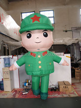 2015 customized inflatable Red Army man figure cartoon replicas model