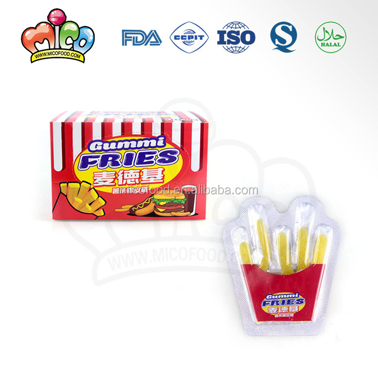 delicious french fries shaped gummy candy