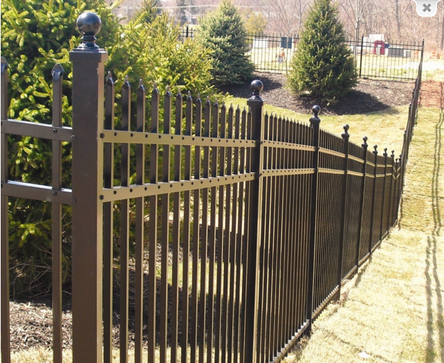 High security fence easy install outdoor temporary picket for Easy fence installation