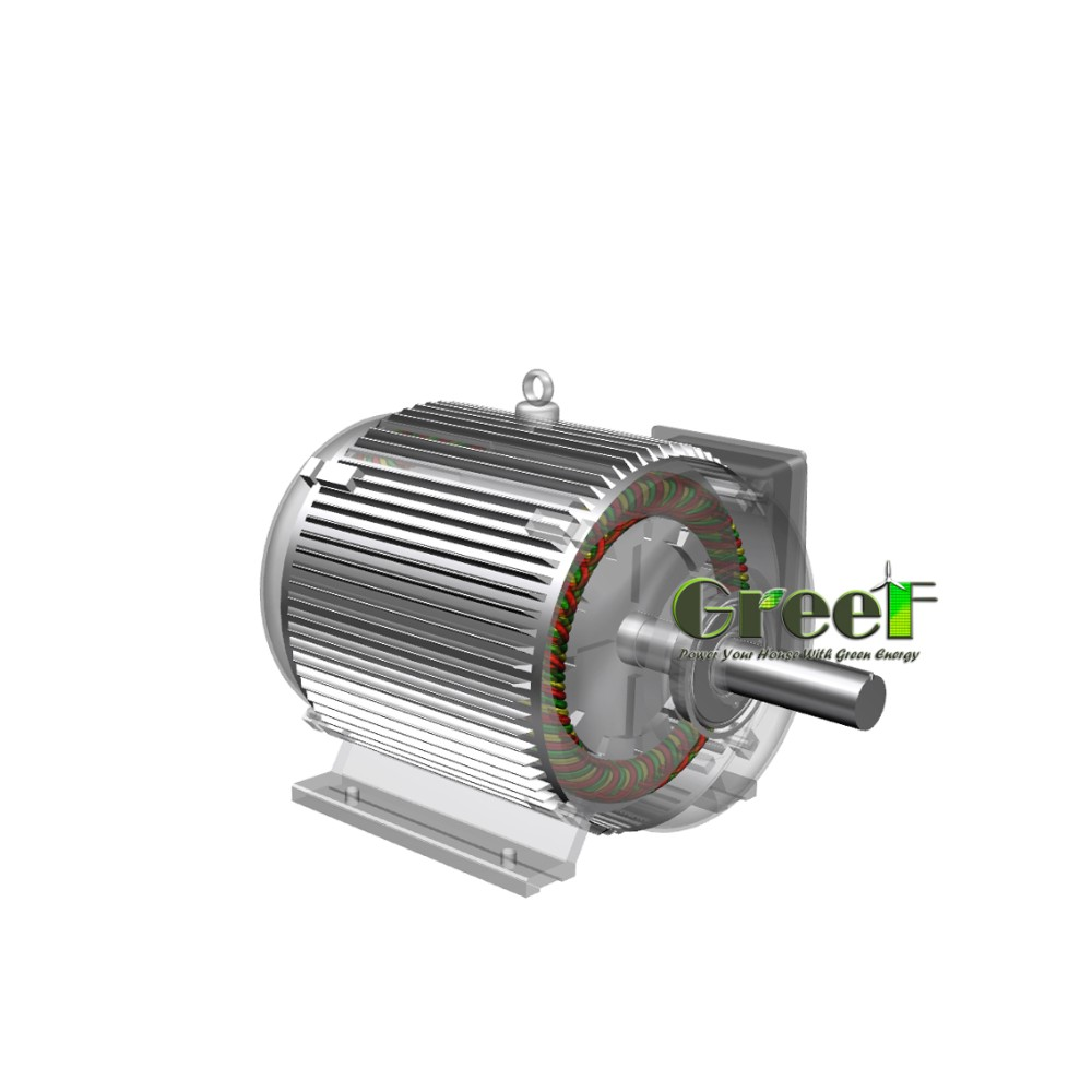 5kW 200rpm wind turbine generator , brushless electric permanent magnet generator for wind use