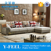 Hot sell turkish sofa furniture Houndstooth paint item HD-1513